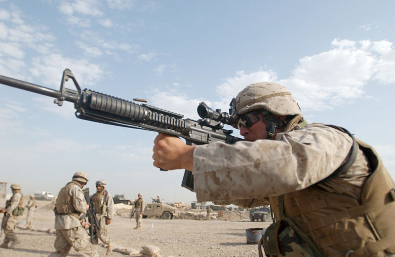 "Cpl. Shawn C. Rhodes. ""Marines practice shooting tactics."" [Online image] 30 March 2013. ."